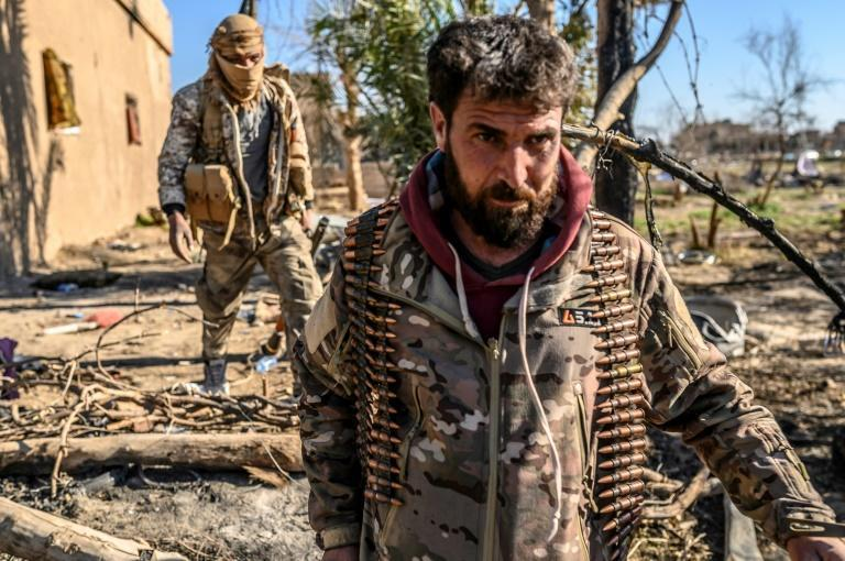 The Kurdish-led Syrian Democratic Forces are waging a ground offensive against the jihadists