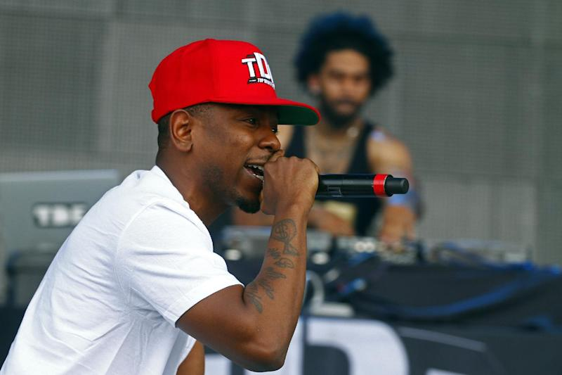 Kendrick Lamar performs on Day 4 of the 2013 Bonnaroo Music and Arts Festival on sunday, June 16, 2013 in Manchester, Tenn. (Photo by Wade Payne/Invision/AP)