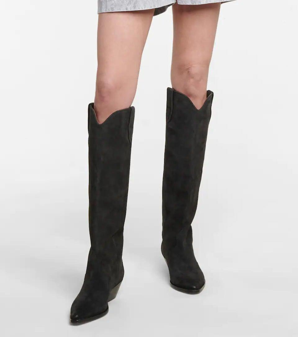 <p>Make a statement in these <span>Isabel Marant Denvee Suede Knee-high Boots</span> ($990). They're tall and polished but still look like a western boot.</p>