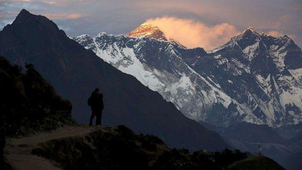 PHOTO: Light illuminates Mount Everest during sunset in Solukhumbu district, also known as the Everest region, Nov.30, 2015. (Navesh Chitrakar/Reuters, FILE)