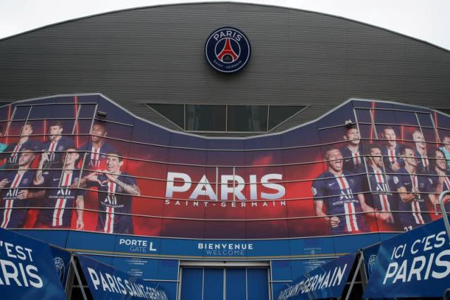 FILE PHOTO: General view of the Parc de Princes stadium a day before the Champions League match between Paris Saint-Germain and Borussia Dortmund, in Paris