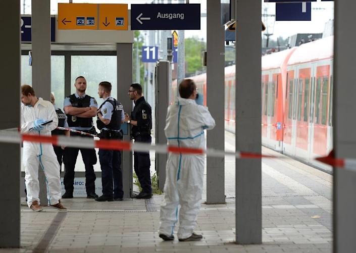 In May, a mentally unstable 27-year-old man carried out a knife attack on a regional train in southern Germany, killing one person and injuring three others (AFP Photo/Andreas Gebert)