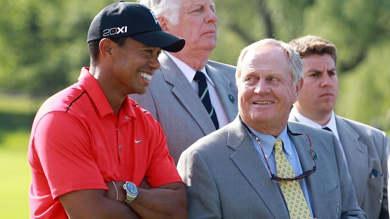 "Nicklaus, whose record for major victories Woods is (was?) chasing, says, ""I don't know about Tiger. That is the biggest puzzle."""