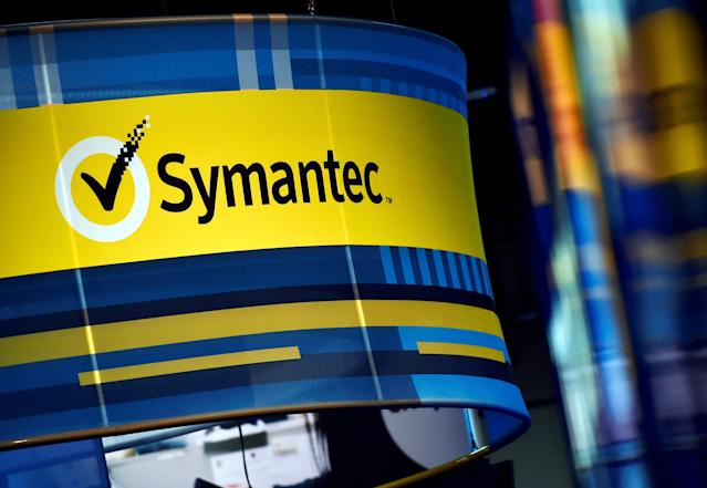 FILE PHOTO: The Symantec booth is seen during the 2016 Black Hat cyber-security conference in Las Vegas, Nevada, U.S. on August 3, 2016. REUTERS/David Becker/File Photo