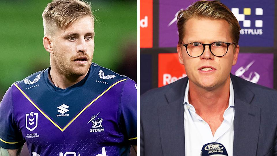 The Melbourne Storm's attempt's to downplay recent troubles involving Cameron Munster and other teammates have only left club CEO Justin Rodki even more red-faced. Pictures: Getty Images