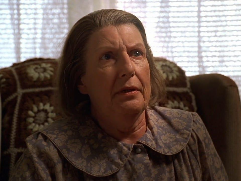 """Nancy Marchand as Livia on """"The Sopranos."""""""