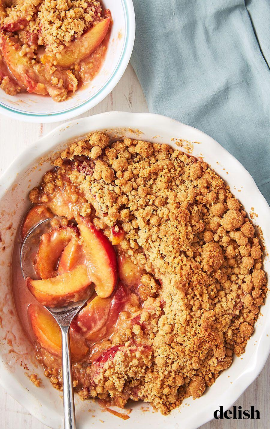 """<p>You'll want it every. single. night. </p><p>Get the recipe from <a href=""""https://www.delish.com/cooking/recipe-ideas/a28091638/peach-crumble-recipe/"""" rel=""""nofollow noopener"""" target=""""_blank"""" data-ylk=""""slk:Delish"""" class=""""link rapid-noclick-resp"""">Delish</a>.</p>"""