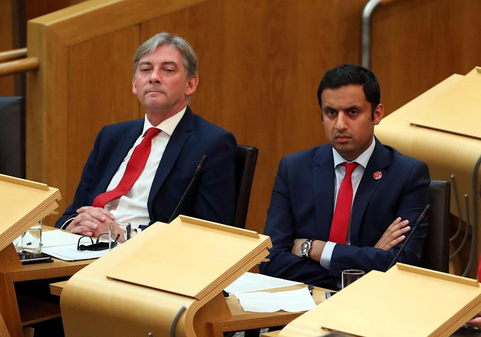 Richard Leonard (left) defeated fellow MSP Anas Sarwar to become Scottish Labour leader in November 2017 (Andrew Milligan/PA)