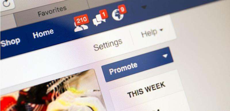 Facebook business page closeup with notifications of new customers like, new messages, in Bangkok, Thailand, on May 6, 2016.