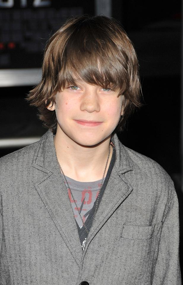"""<a href=""""http://movies.yahoo.com/movie/contributor/1809767001"""">Liam James</a> at the Los Angeles premiere of <a href=""""http://movies.yahoo.com/movie/1810045661/info"""">2012</a> - 11/03/2009"""