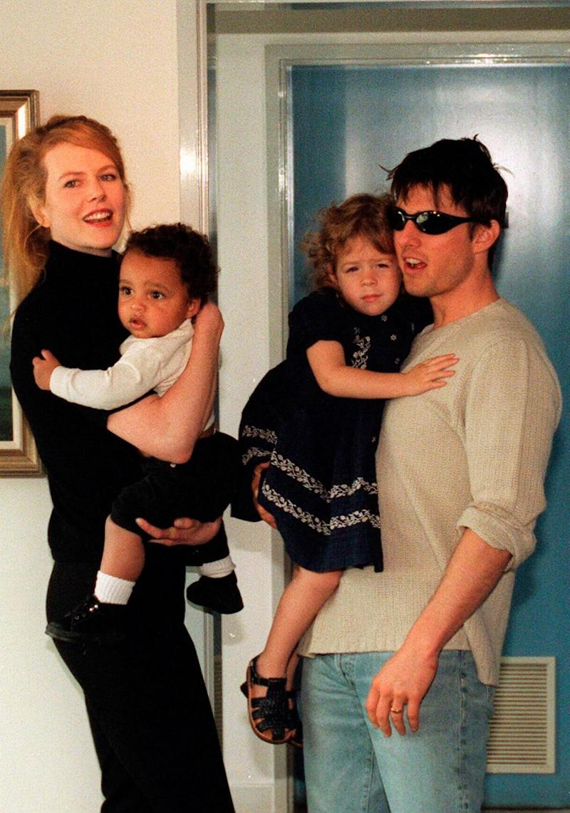 Nic has two adoptive children with ex-husband Tom Cruise, Isabella, now 25, and Connor, now 22. They are pictured here together in 1996. Source: Getty