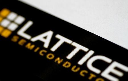 The Lattice Semiconductor logo is seen in this illustration photo September 14, 2017.    REUTERS/Thomas White/Illustration