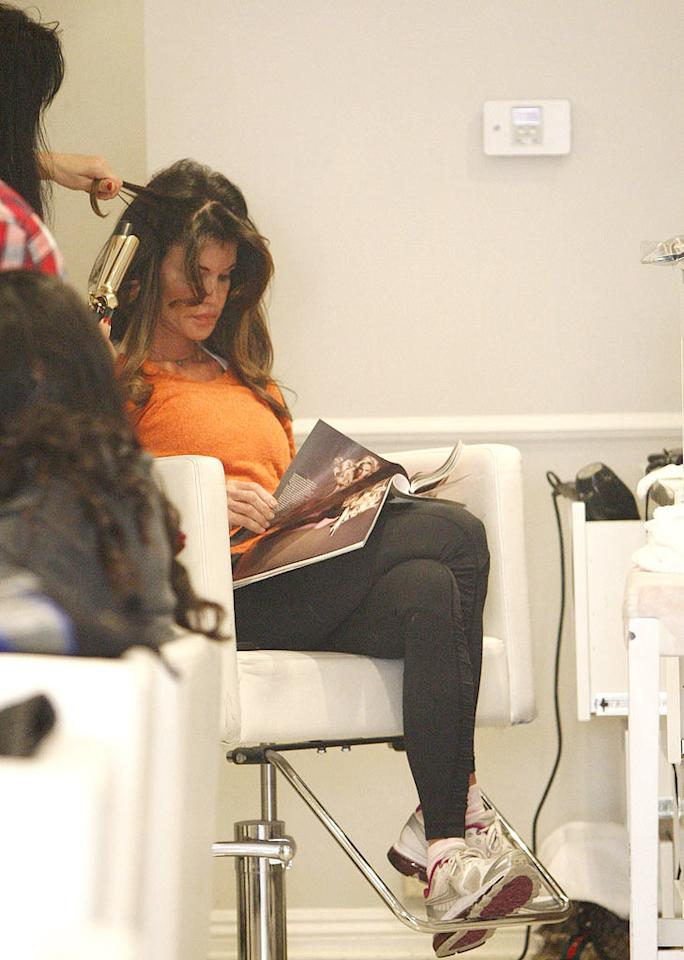 Janice Dickinson pampered herself by having her hair done at the Blow Dry Bar in Beverly Hills on Monday. The former supermodel, 56, was apparently on her best behavior while she was there, since no incidents were reported. If you know Janice, then you know that's a big deal! (11/21/2011)