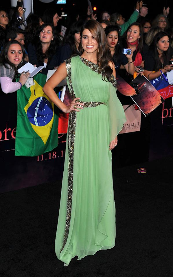"""Nikki Reed arrives at the red carpet premiere for """"The Twilight Saga: Breaking Dawn – Part 1"""" in Los Angeles, CA. (Photo by Vince Bucci/Yahoo!)"""