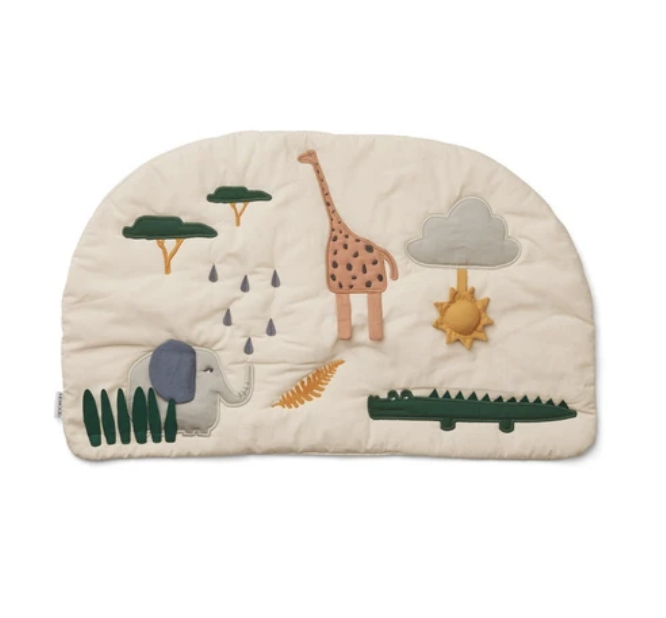 "$58, Scandi Born. <a href=""https://www.scandiborn.com/products/liewood-sofie-activity-playmat-in-safari-mix"" rel=""nofollow noopener"" target=""_blank"" data-ylk=""slk:Get it now!"" class=""link rapid-noclick-resp"">Get it now!</a>"