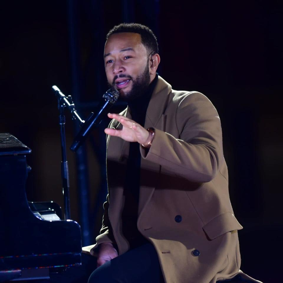 """John Legend Delivers Powerful Speech at Biden Rally: """"You Can't Bank on a Word  Says"""""""