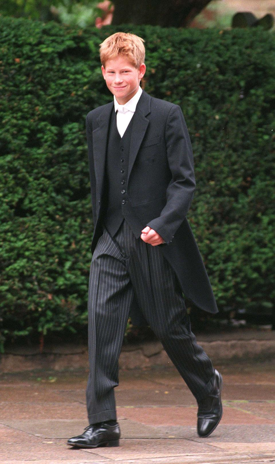 Prince Harry on his first day at Eton College in September 1998. [Photo: Getty]