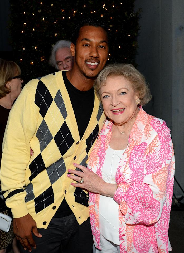 "Wesley Jonathan and Betty White attend the after party for TV Land's ""Hot in Cleveland"" Live Show on June 19, 2013 in Studio City, California."