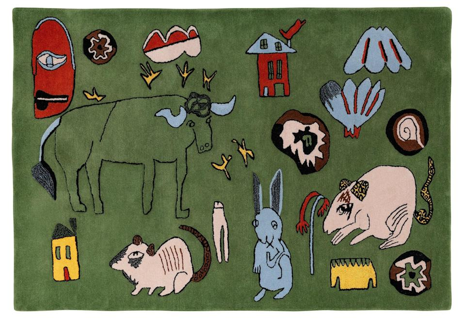 And here's a closer look at that super-fun rug.<br><br><strong>Shrimps for Habitat</strong> Wilder rug, £395