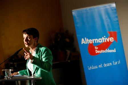 Frauke Petry, chairwoman of the anti-immigration party Alternative for Germany (AfD) attends a pre-election meeting in Berlin
