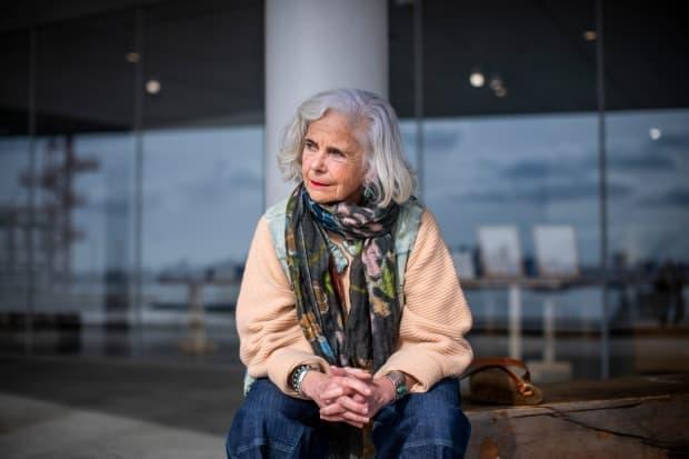 Jo O'Callaghan, a retired registered nurse, is pictured in North Vancouver, British Columbia on Wednesday, February 24, 2021.