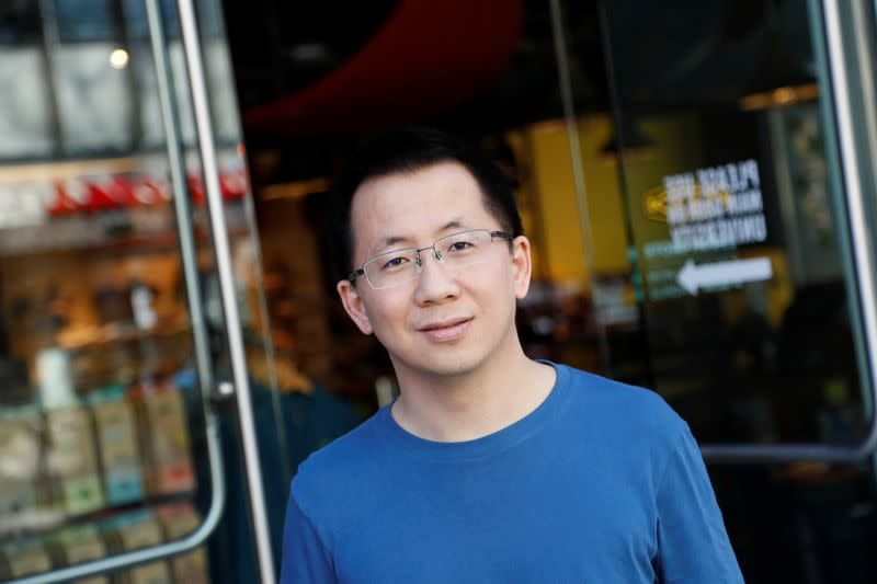 Zhang Yiming, founder and global CEO of ByteDance, poses in Palo Alto, California