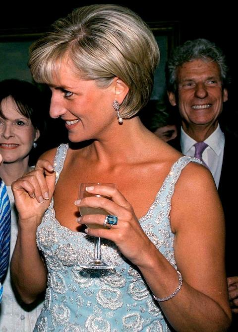princess diana aquamarine ring - Credit: Tim Graham/Getty Images