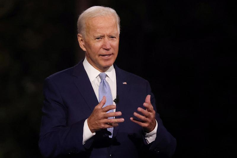 Democratic presidential nominee Joe Biden, speaking on Thursday (REUTERS)