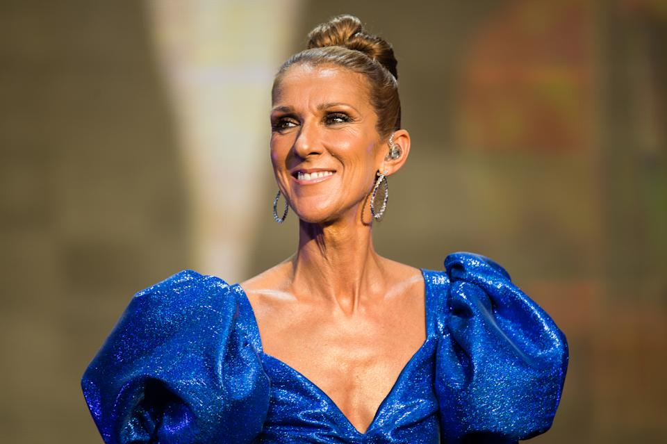 LONDON, ENGLAND - JULY 05: Celine Dion performs live at Barclaycard Presents British Summer Time Hyde Park at Hyde Park on July 05, 2019 in London, England. (Photo by Samir Hussein/Redferns)