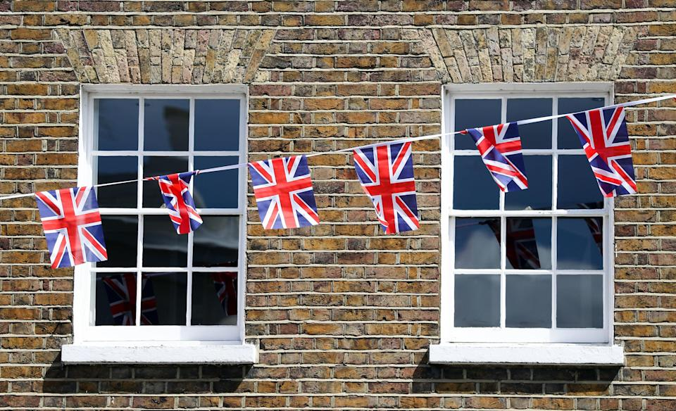 Bunting is already up [Photo: PA]