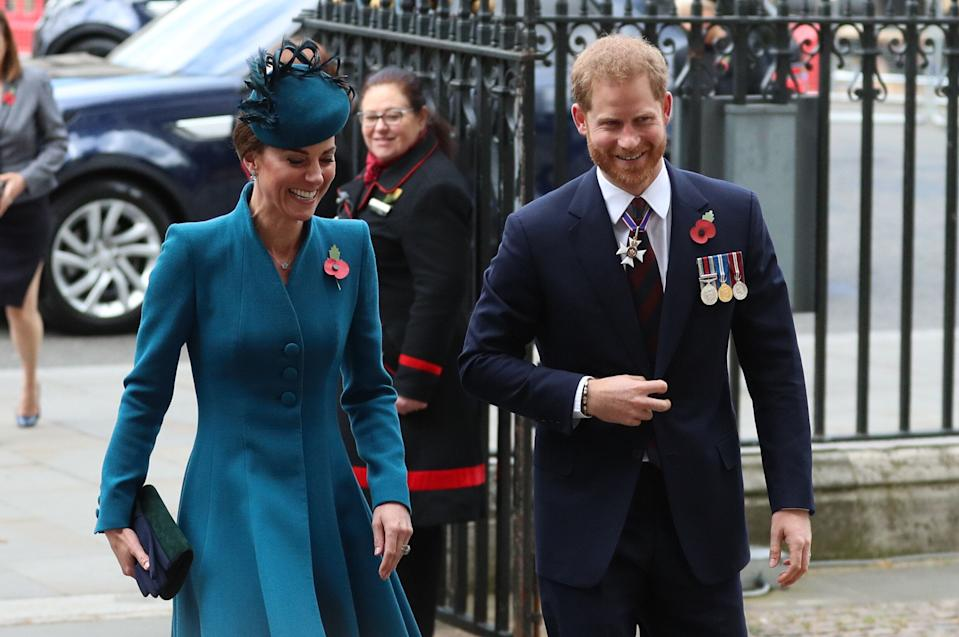The pair smiled and chatted as they arrived at the service [Photo: PA]
