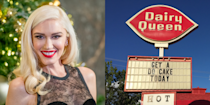 """<p>Another alumna of fast food life, Gwen Stefani <a href=""""http://www.etonline.com/news/213101_gwen_stefani_reveals_she_made_her_first_dollar_at_dairy_queen_and_16_other_fun_facts"""" rel=""""nofollow noopener"""" target=""""_blank"""" data-ylk=""""slk:once worked"""" class=""""link rapid-noclick-resp"""">once worked</a> at Dairy Queen, where she says she made her first dollar. She used her earnings to buy her first album, by Shaun Cassidy. </p>"""