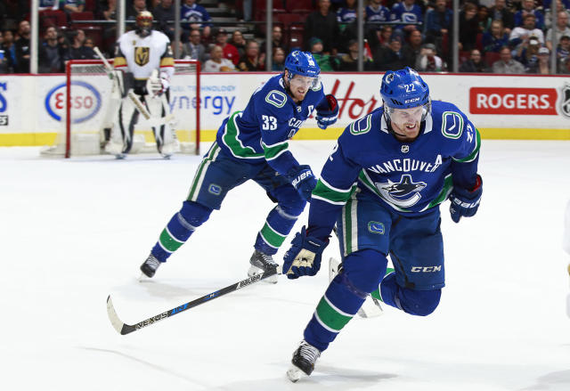 "Henrik and <a class=""link rapid-noclick-resp"" href=""/nhl/players/2102/"" data-ylk=""slk:Daniel Sedin"">Daniel Sedin</a> are taking their final few spins around NHL ice. (Getty)"