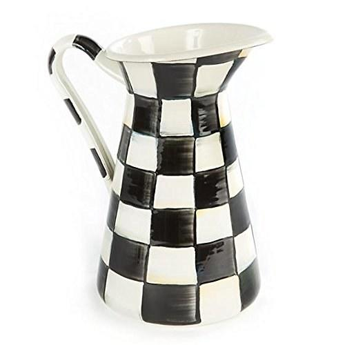 """<a rel=""""nofollow"""" href=""""https://www.amazon.com/MacKenzie-Childs-Courtly-Check-Practical-Pitcher/dp/B07BDMS2ZY"""" rel=""""nofollow"""">SHOP NOW</a>: Medium Courtly Check Practical Pitcher by MacKenzie-Childs, $88"""