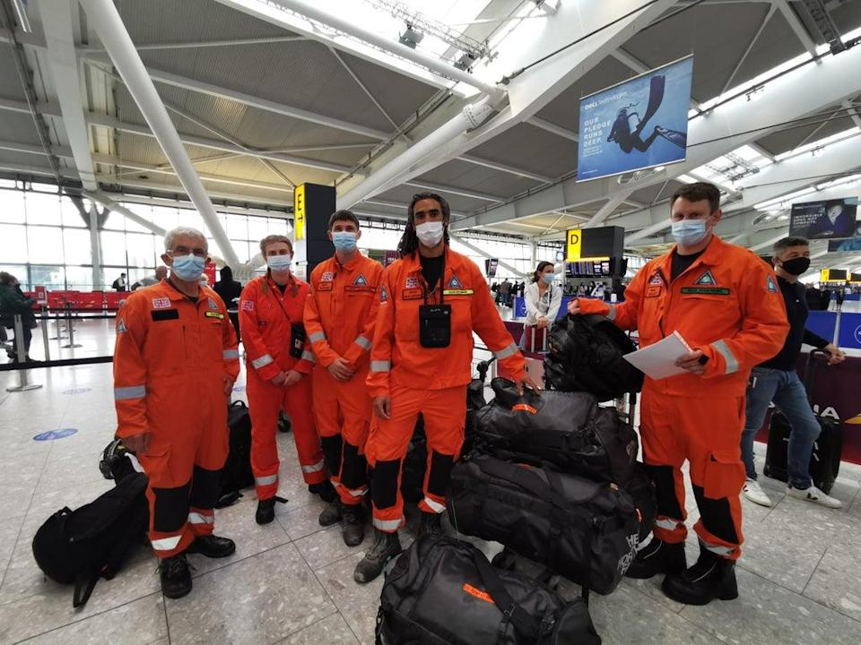 Former firefighters, paramedics and engineers from charity Search and Rescue Assistance in Disaster on their way to Haiti (SARAID/PA) (PA Media)