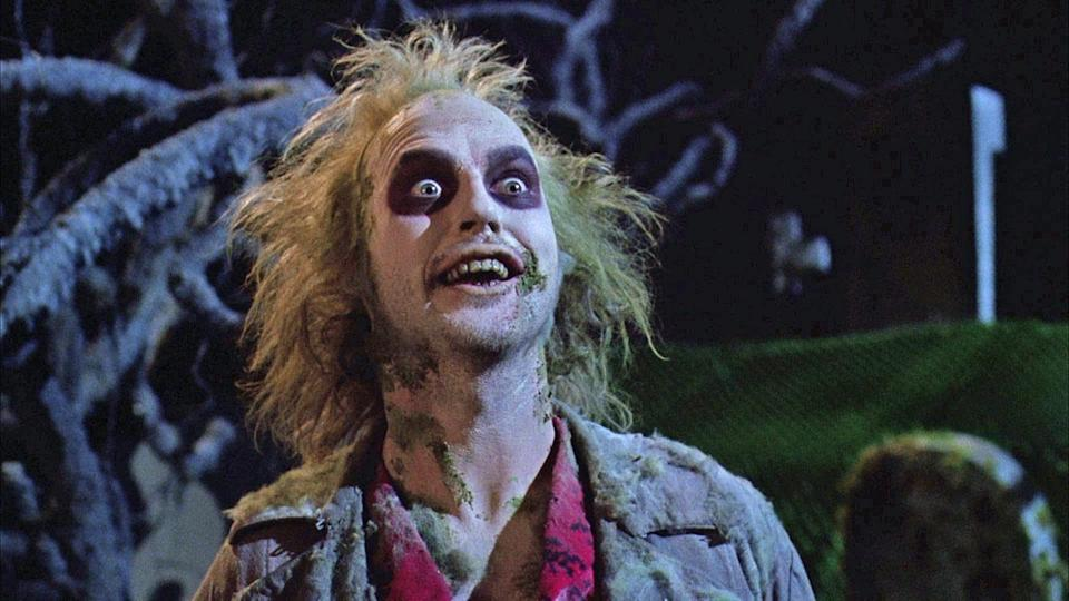"""<p><strong><em>Beetlejuice </em></strong></p><p>Fun fact: The character Beetlejuice is <a href=""""https://www.ifc.com/2014/11/15-things-you-probably-didnt-know-about-beetlejuice"""" rel=""""nofollow noopener"""" target=""""_blank"""" data-ylk=""""slk:only on screen for 17.5"""" class=""""link rapid-noclick-resp"""">only on screen for 17.5</a> minutes of this 92 minute film. The rest of of the time is spent on the family in their suburban C.T. town singing Harry Belafonte. </p>"""