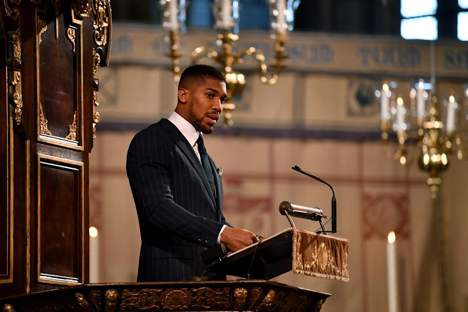 British boxer Anthony Joshua also made the list. Photo: Getty