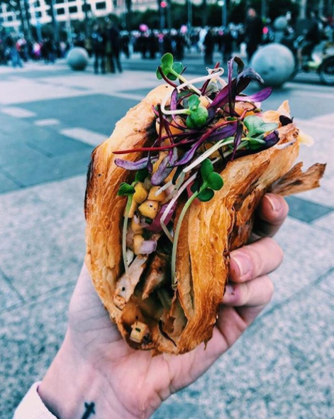 Want a Tacro? You'll need to be quick as these babies are selling out at Vive La Tarte every day. Photo: Instagram/lisa.po.pizza