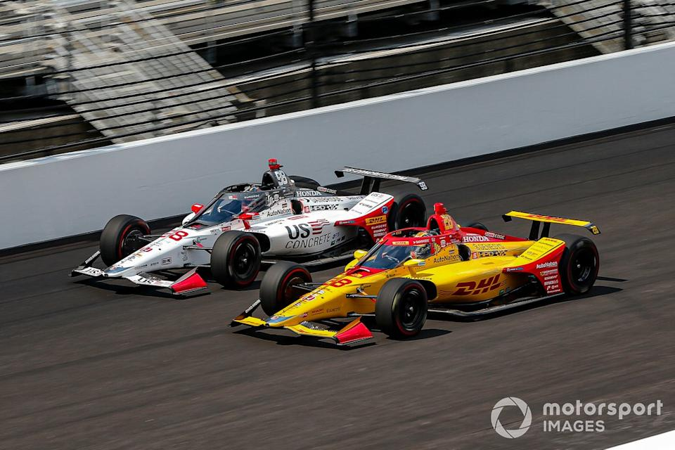 "Ryan Hunter-Reay, Andretti Autosport Honda, Marco Andretti, Andretti Herta with Marco & Curb-Agajanian Honda<span class=""copyright"">Barry Cantrell / Motorsport Images</span>"