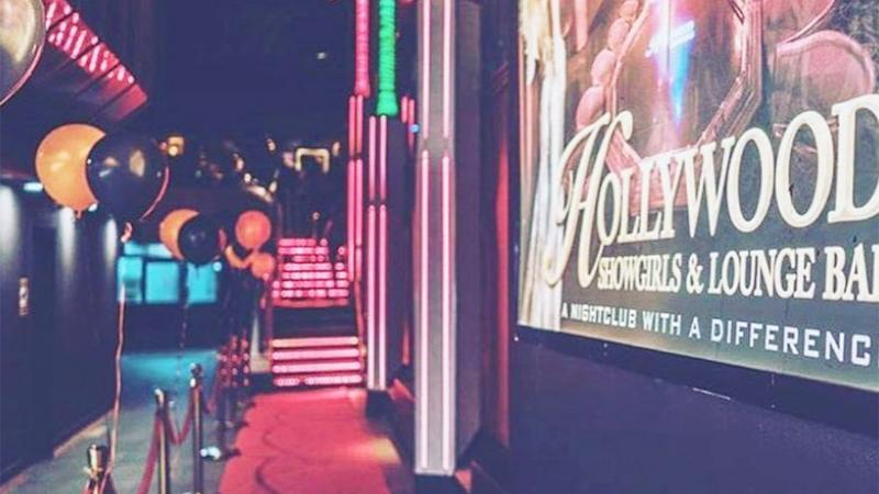Seen here, a shot of the Hollywood Showgirls strip club on the Gold Coast.