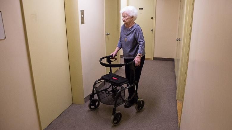 This 94-year-old says elevator repairs would be like 'house arrest' in her building