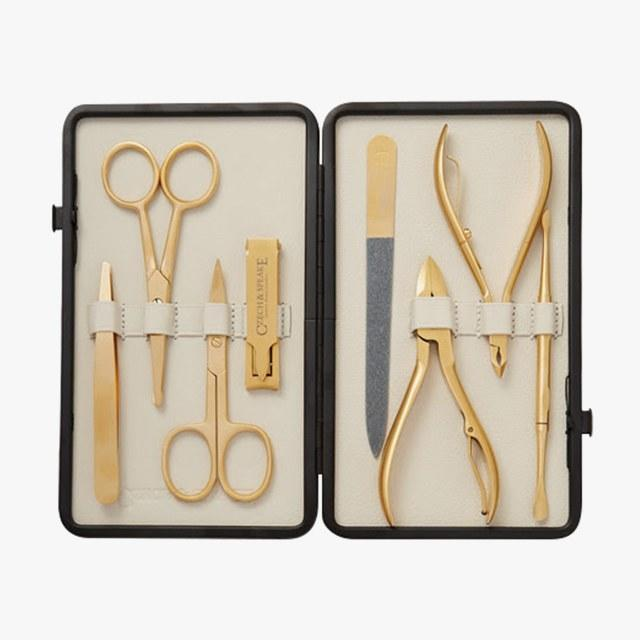 Czech and Speake Leather Bound Manicure Set, $650 But it now