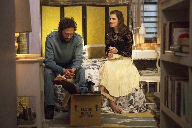 Allison Williams and Ebon Moss-Bachrach in <em>Girls</em>. (Photo: HBO)