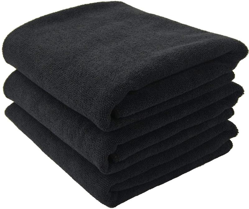 Always have towels handy to put around your shoulders to avoid staining your clothes.