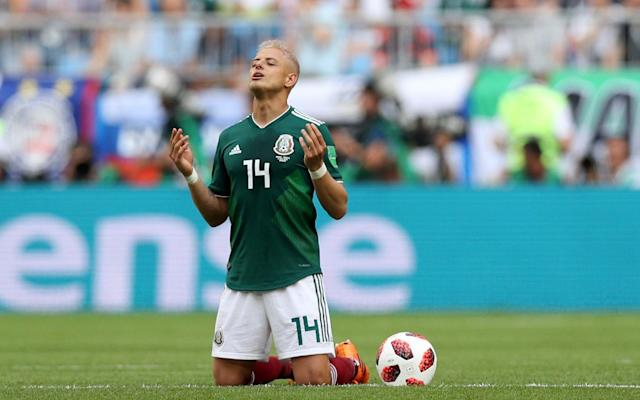 Javier 'Chicharito' Hernandez and Mexico came up short against Brazil in their Round of 16 clash. (AP)
