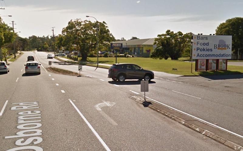 A female police officer was choked and two other officers were attacked in Mitchelton near the Brook Hotel. Source: Google Maps, file