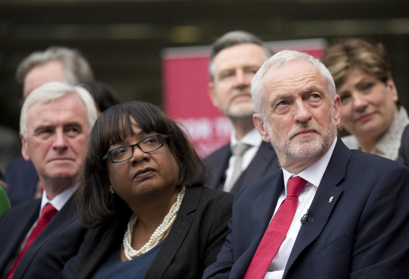 John McDonnell, Diane Abbott and Jeremy Corbyn at the party manifesto launch. (EMPICS Entertainment)