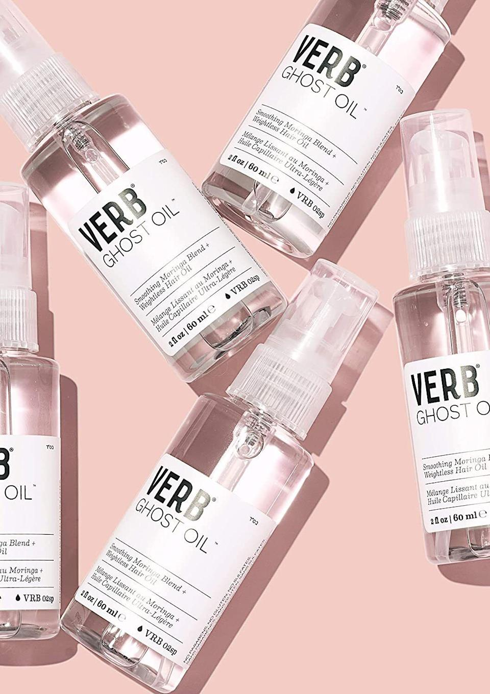 """Makesquick work of taming frizz and flyaways. This is THE BEST hair oil if you have coarse, thick hair. Reviewers with hair textures up to 4C rave about it!<br /><br /><strong>Promising review:</strong>""""I have 4c hair and this is AMAZING. At first I thought this would do nothing for my hair since Verb caters to looser hair textures but this product is lightweight and a little goes a LONGGGG way. I've used several pumps of this and the bottle still looks like I've barely used any of it! Amazing product for detangling, softening, and adding moisture to your hair."""" —<a href=""""https://www.amazon.com/dp/B00C3HQB9C?tag=huffpost-bfsyndication-20&ascsubtag=5876069%2C1%2C48%2Cd%2C0%2C0%2C0%2C962%3A1%3B901%3A2%3B900%3A2%3B974%3A3%3B975%3A2%3B982%3A2%2C16398628%2C0"""" target=""""_blank"""" rel=""""noopener noreferrer"""">Brit</a><br /><br /><strong>Get it from Amazon for <a href=""""https://www.amazon.com/dp/B00C3HQB9C?tag=huffpost-bfsyndication-20&ascsubtag=5876069%2C1%2C48%2Cd%2C0%2C0%2C0%2C962%3A1%3B901%3A2%3B900%3A2%3B974%3A3%3B975%3A2%3B982%3A2%2C16398628%2C0"""" target=""""_blank"""" rel=""""noopener noreferrer"""">$18</a>.</strong>"""