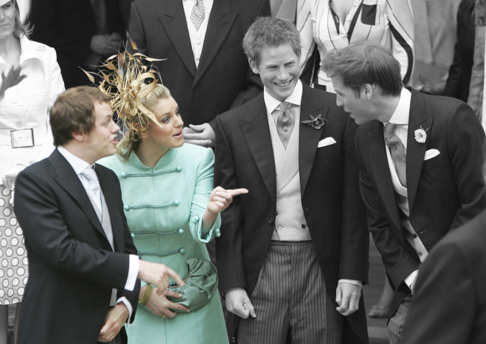 Tom Parker Bowles and Laura Lopes are Prince William and Prince Harry's step-siblings [Photo: Getty/Yahoo Style UK]