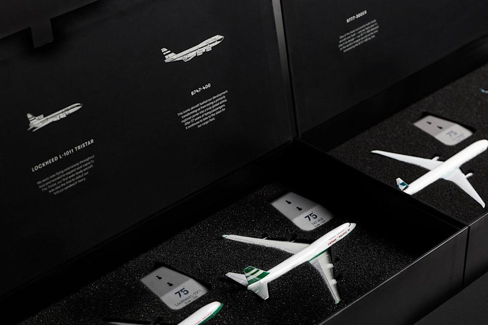 Cathay Pacific's 75th Anniversary products